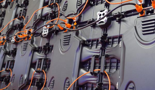 internal wirings of an LED wall