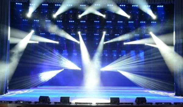 a well designed concert stage